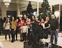 Cristiano Ronaldo com a família, a companheira Georgina Rodríguez e os quatro filhos