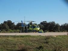O aparelho do INEM de Évora ficou estacionado em Salemas, Loures, nos dias 24 e 25 de dezembro