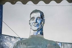 Escultura de gelo de Cristiano Ronaldo