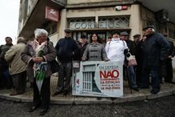 Manifestação contra o fecho dos CTT em Paio Pires, Seixal