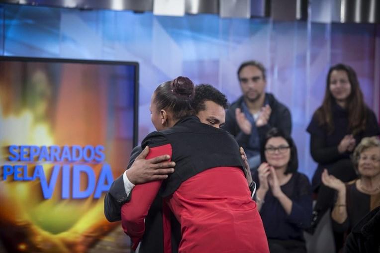 O momento do reencontro de Joaquim e Ângela, transmitido ontem na CMTV