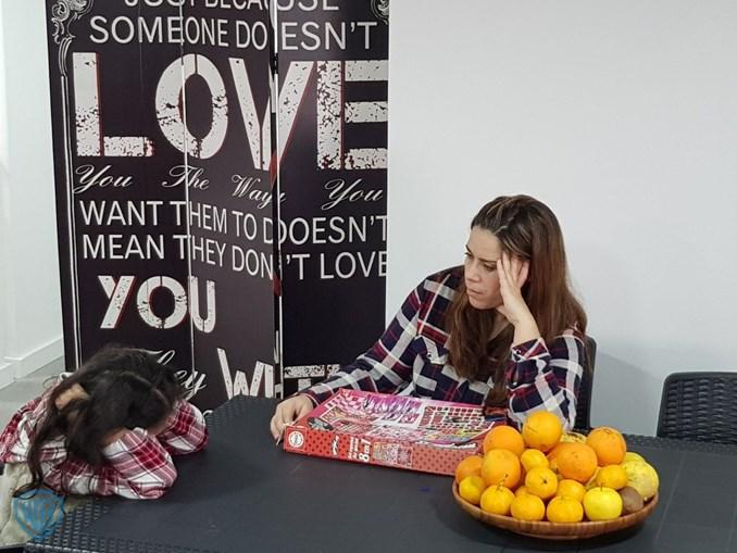 Patrícia Antunes com a filha no programa 'Supernanny'
