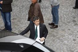 Bruno de Carvalho à chegada da Assembleia Geral do Sporting