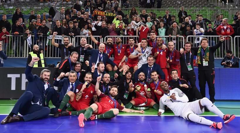Portugal é o novo campeão da Europa de Futsal - Modalidades ... d734358deee34