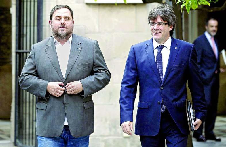 Junqueras e Puigdemont