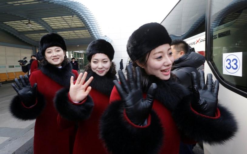 'Cheerleaders' da Coreia do Norte