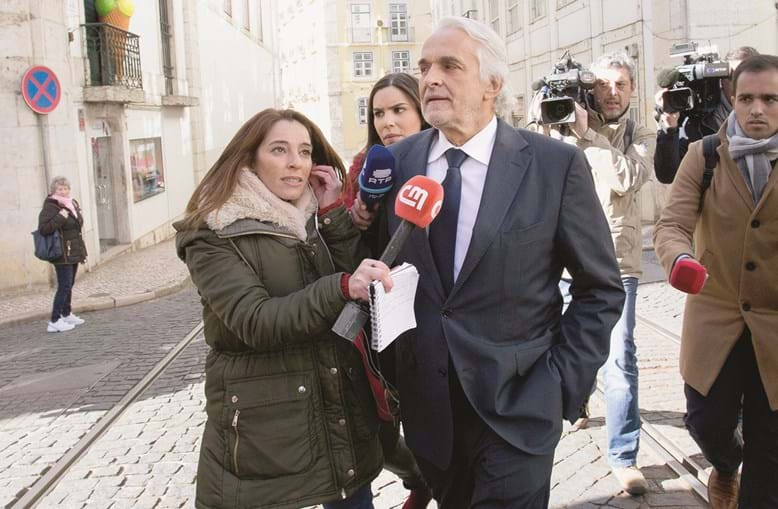 Rui Rangel chegou às 09h50 às instalações provisórias do Supremo Tribunal (que está em obras), nas escadinhas de São Crispim