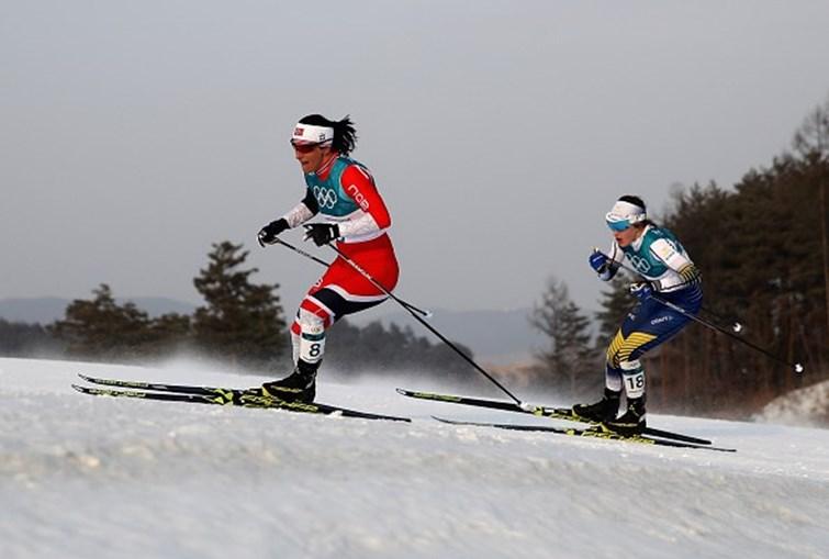 Marit Bjoergen vence prata no esquiatlo e chega à 11ª medalha olímpica
