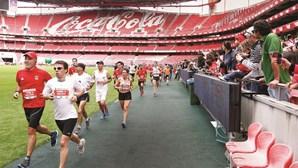 Corrida do Benfica tem como atrativo passagem pelo relvado da Luz