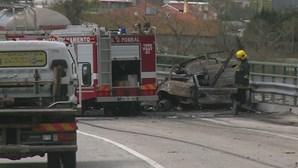 Condutora morre carbonizada após colisão no IC8 em Pombal