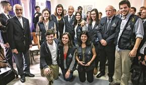 Marcelo com voluntários portugueses do Serviço Jesuíta aos Refugiados