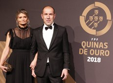 Leonardo Jardim com a mulher