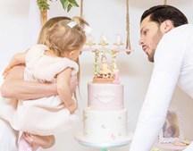 Laura Figueiredo e Mickael Carreira celebraram aniversário da filha