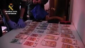 As autoridades apreederam 300 mil euros