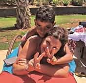 Dolores e Cristianinho nas férias