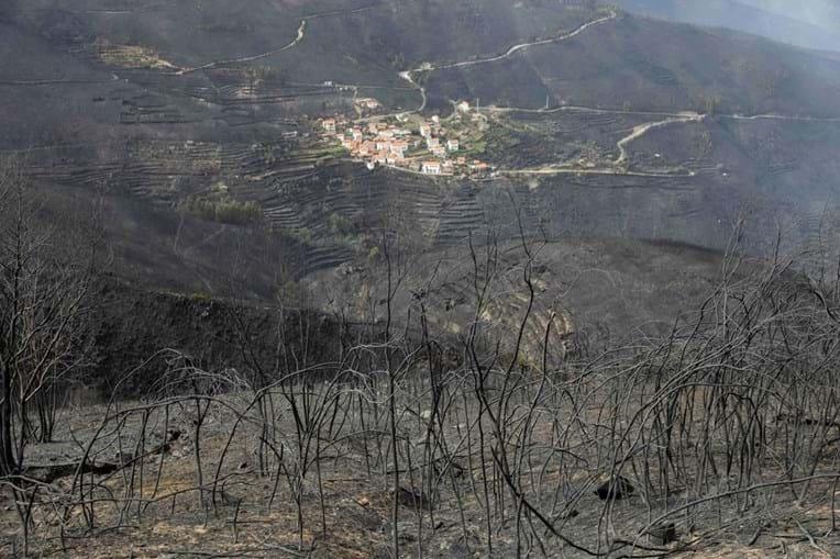 Destruição causada pelo fogo