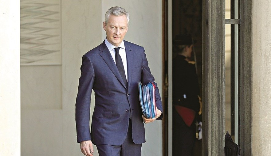 O ministro francês da Economia e das Finanças, Bruno Le Maire