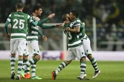 Fredy Montero celebra o primeiro golo do Sporting