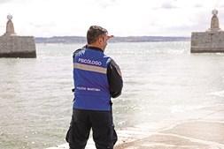 Psicólogos da Polícia Marítima em ação