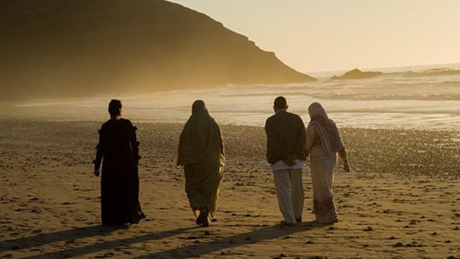 Família em Marrocos