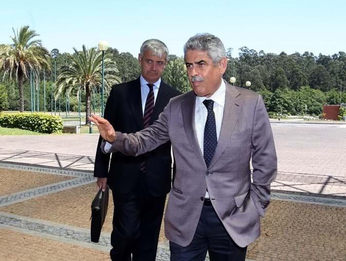 Domingos Soares Oliveira, administrador do Benfica, com Luís Filipe Vieira