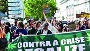 Dezenas defendem legalização da marijuana