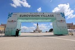 Aldeia da Eurovisão montada no Terreiro do Paço