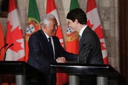Justin Trudeau e António Costa durante visita oficial do primeiro-ministro ao Canadá