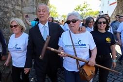 Marcelo juntou-se a peregrinos a caminho de Santiago de Compostela