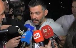 Sérgio Conceição emociona-se após a conquista do título