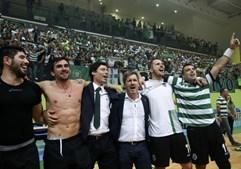 Bruno de Carvalho comemora o título de Campeão Nacional da equipa de Andebol