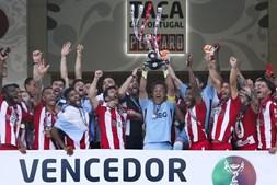 Desportivo das Aves festeja vitória na Taça de Portugal