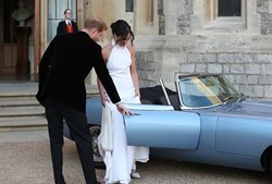 Jaguar E-Type eléctrico brilhou no casamento real de Harry e Meghan