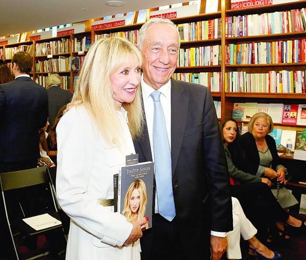Judite de Sousa contou com o apoio de Marcelo Rebelo de Sousa