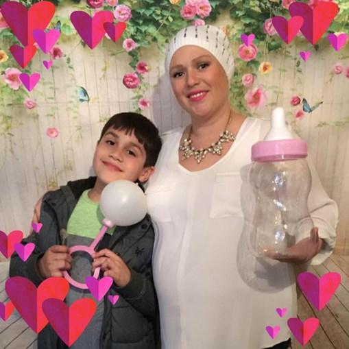Mulher grávida com cancro