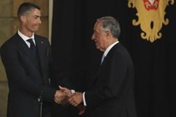 Seleção nacional foi recebida em Belém por Marcelo Rebelo de Sousa