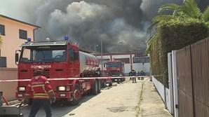 Fogo em fábrica de Felgueiras