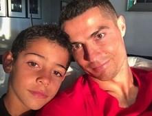 Cristiano Ronaldo com Cristianinho