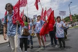 Trabalhadores do setor das limpezas manifestaram-se em Lisboa