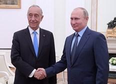 Marcelo Rebelo de Sousa no Kremlin com Vladimir Putin