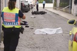 Despiste mortal ocorreu na rua Sebastião de Lima, nas Caldas da Rainha