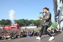 Diogo Piçarra no primeiro dia do Rock in Rio Lisboa