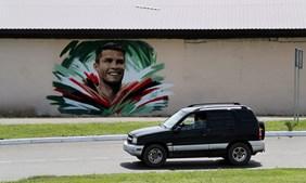 Mural de Cristiano Ronaldo em Saransk