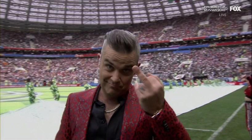 Cerimonia De Abertura Do Mundial  Marcada Por Gesto Polemico De Robbie Williams