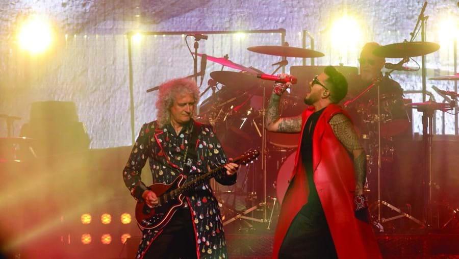 Brian May e Adam Lambert ontem, no concerto que encheu a Altice Arena. Os Queen andam em digressão mundial