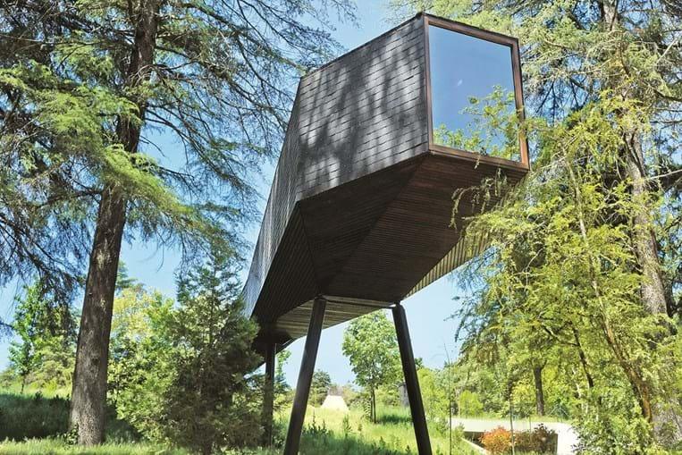 Vista detalhada do Parque de Pedras Salgadas - Ecoturismo & Spa Termal localizado no concelho de Vila