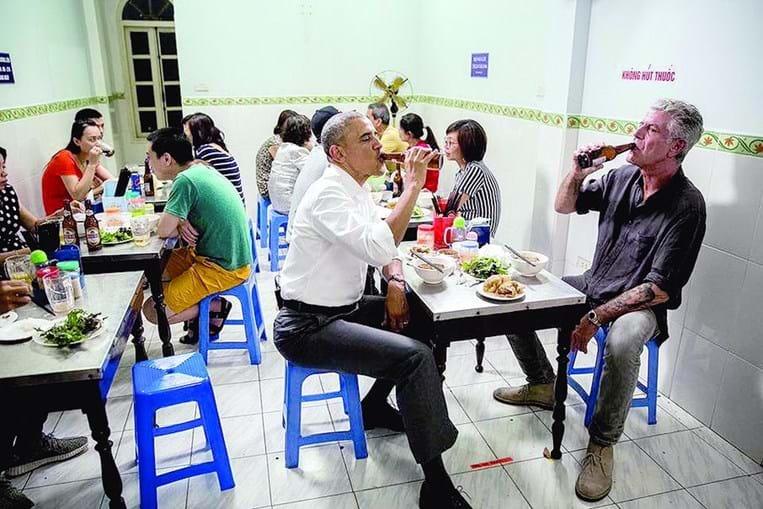Anthony Bourdain e Barack Obama