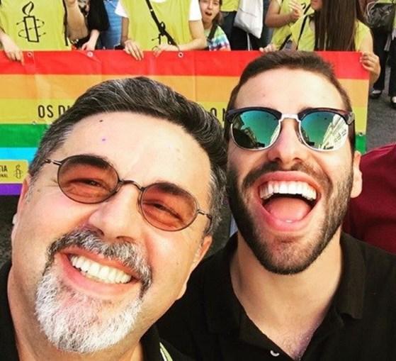 José Carlos Malato e João Caçador na marcha LGBT