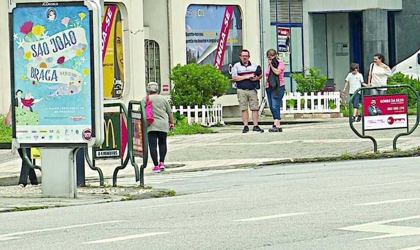 Avenida da Liberdade, em  Braga, onde Vítor Gil foi atropelado