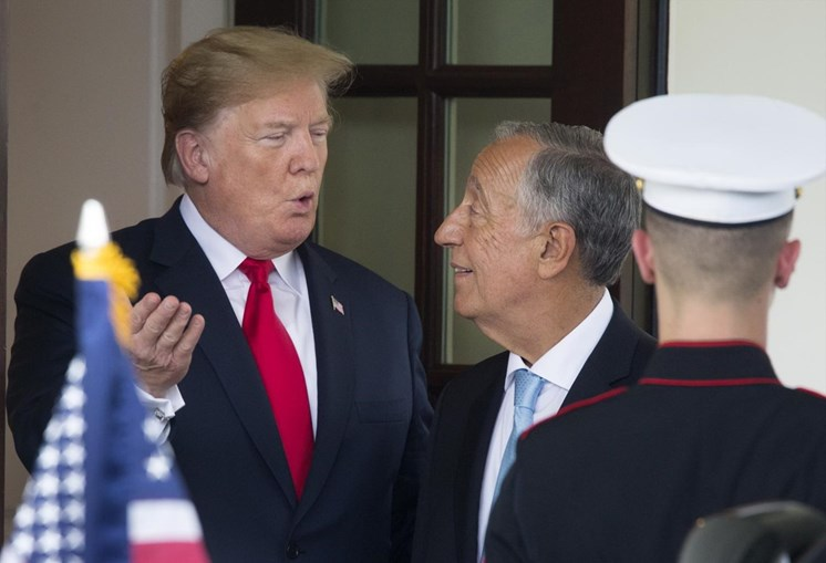 Marcelo Rebelo de Sousa e Donald Trump